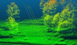Images du capteur Lidar provenant d'UAV de lignes électriques et de la canopée forestière