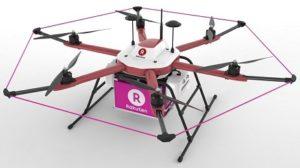 Drone de livraison Rakuten au Japon