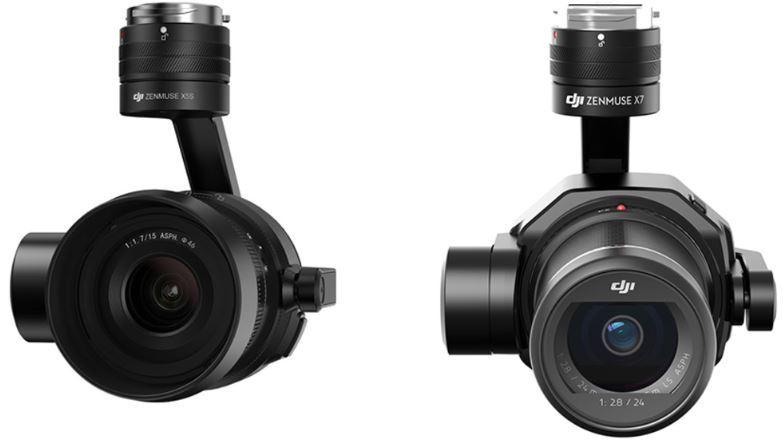 DJI Inspire 2 Zenmuse X5s vs X7 avis