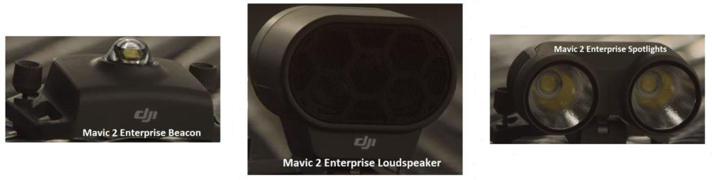 Projecteur, haut-parleur et balise DJI Mavic 2 Enterprise
