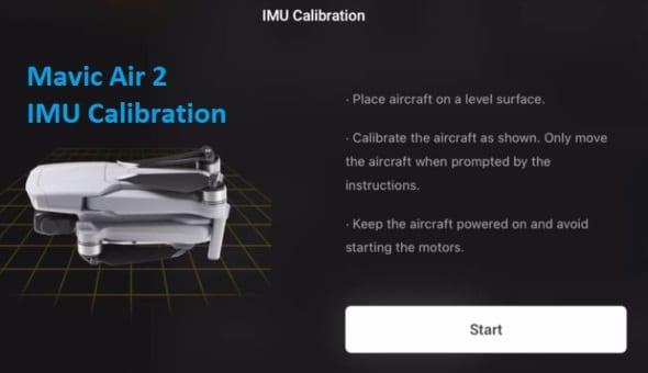 Calibrer l'IMU DJI Mavic Air 2